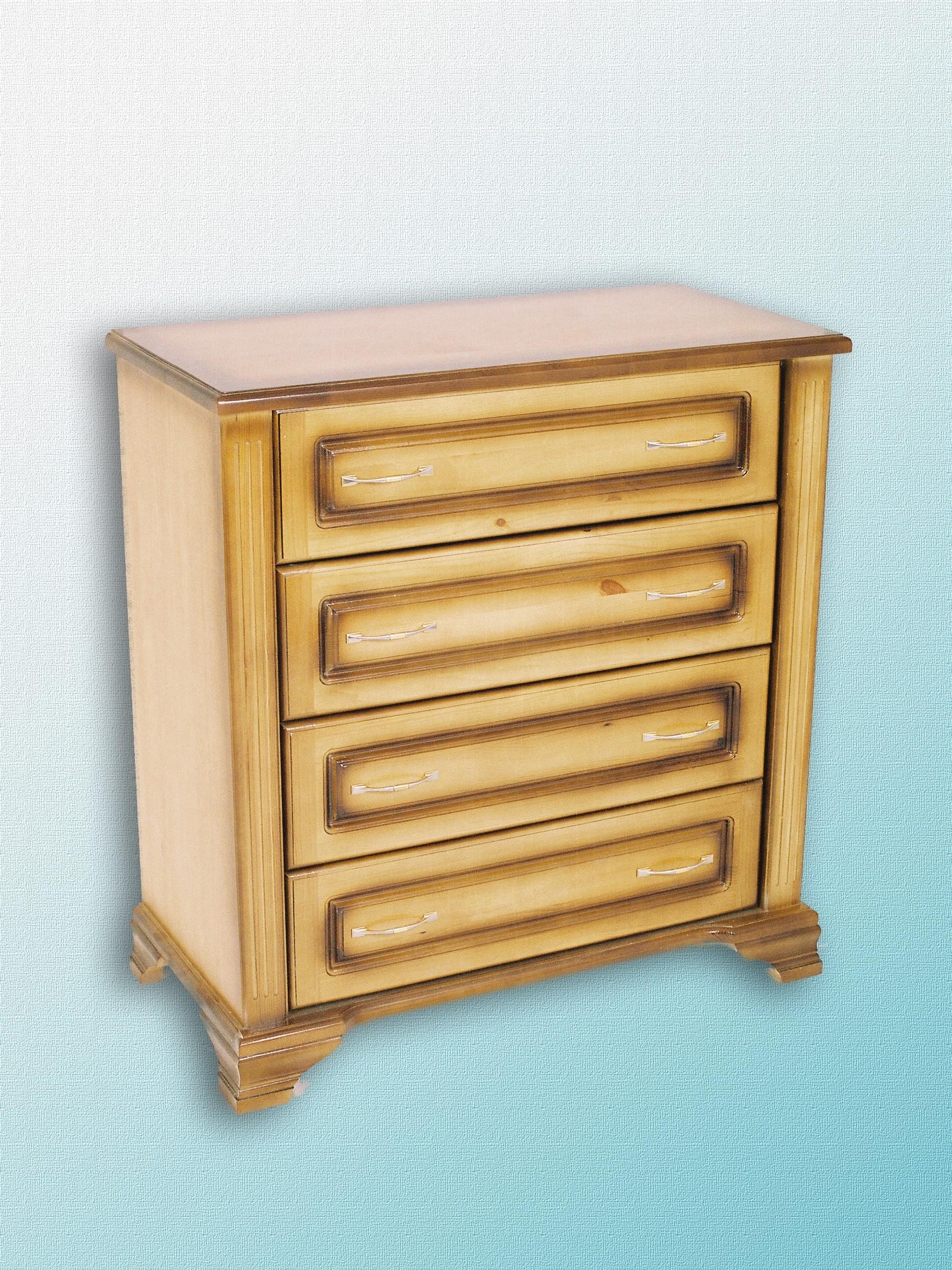 """Комод """"фараон"""" 4 ящика - продажа мебели из массива сосны и б."""